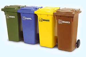 Tipos de contenedores de basura en españa